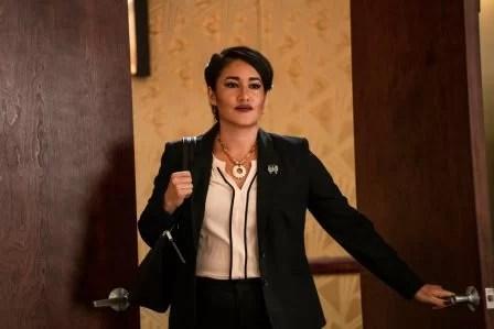 Yellowstone season 3 episode 4 - Going Back to Cali Q'orianka Kilcher as Angela Blue Thunder.