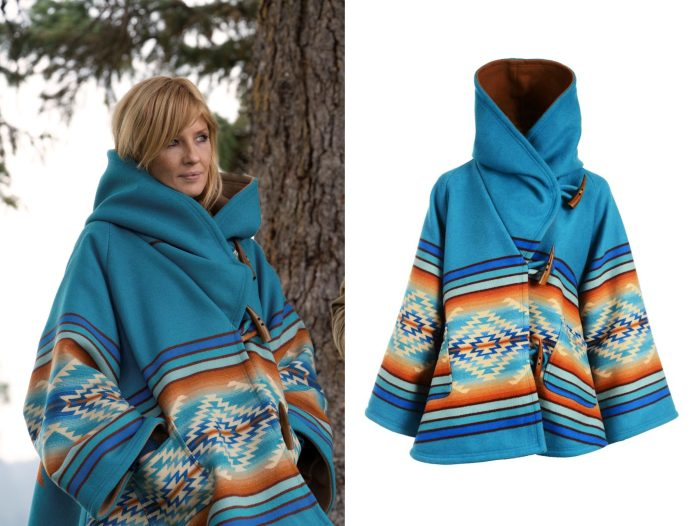 Benth Dutton Bell-shaped hooded cloak worn on Yellowstone Episode 306