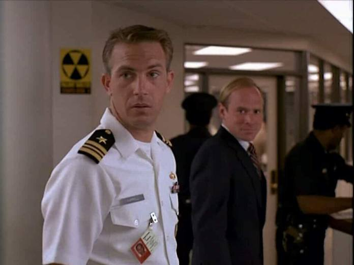 Kevin Costner and Will Patton in No Way Out Year 1987
