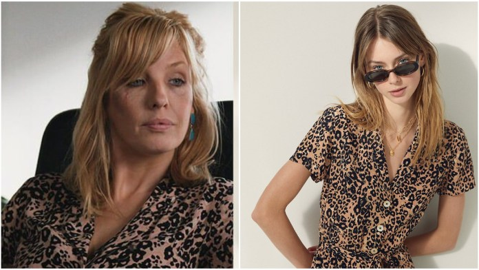 Beth Dutton Leopard Print Shirtdress Wore in Yellowstone season 3 episode 4
