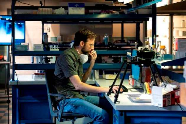 NCIS New Orleans Season 7 Episode 2. Pictured Rob Kerkovich as Forensic Agent Sebastian Lund