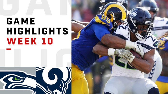 NFL 2020 Week 10 Highlights Seahawks vs. Rams