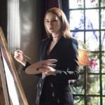 Riverdale'-Season-5-Episode-6-Madelaine-Patsch-as-Cheryl-Blossom-in-black-dress-doing-some-paintart