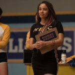 """Riverdale -- """"Chapter Eighty-Three: Fire In The Sky"""" -- Image Number: RVD507a_0447r -- Pictured: Vanessa Morgan as Toni Topaz -- Photo: Katie Yu/The CW -- © 2021 The CW Network, LLC. All Rights Reserved."""