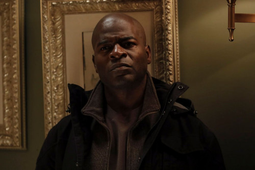 "THE BLACKLIST -- ""The Fribourg Confidence (#140)"" Episode 805 -- (Pictured: Hisham Tawfiq as Dembe Zuma -- (Photo by: Will Hart/NBC)"