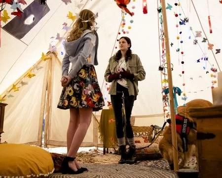 KAYLA CROMER, LILLIAN CARRIER in Everythings Gonna Be Okay Season 2 Episode 8
