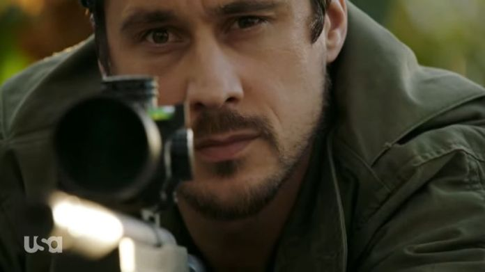 James has a sniper in his hand. Queen Of the South
