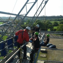 Training abseiling