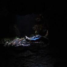 Underground filming - building and preparing sets underground