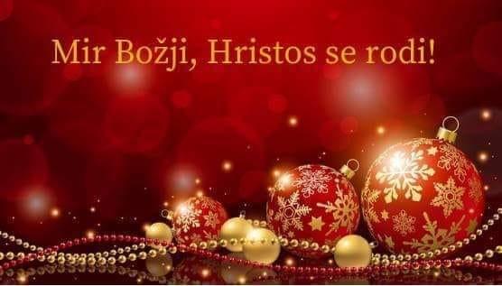 Svim vjernicima koji slave po julijanskom kalendaru , 'Mir Božji, Hristos se rodi!'