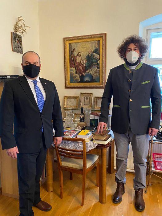 Posjet Veleposlanika Daniela Glunčića Don Ivicu Stankoviću u Župi u Fischamendu