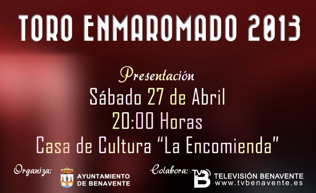 CARTEL PRESENTACION TORO ENMAROMADO
