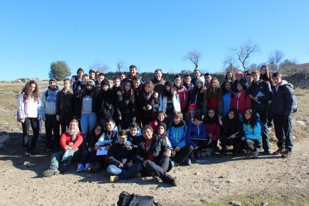 Grupo de alumnos de la Vega y Lestonnac en los Arribes del Duero