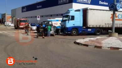 Photo of ACCIDENTE DE TRÁFICO JUNTO AL CENTRO DE TRANSPORTES DE BENAVENTE