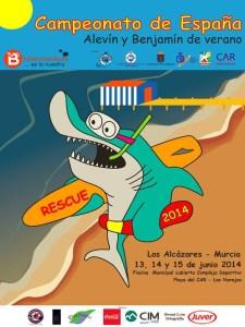 cartel campeonato de españa salvamento 2014 murcia