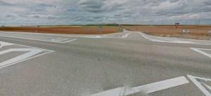 foto cruce n-610 con Castroverde de Campos.