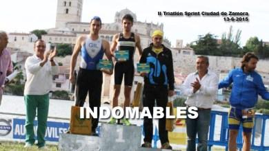 Photo of Sixto Vaquero primero y Jorge Gil segundo en el II Triatlón Sprint Ciudad de Zamora