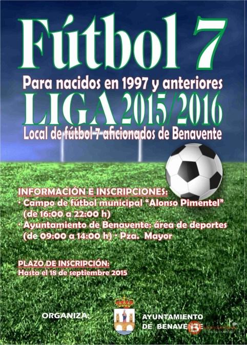 Cartel futbol 7 Benavente