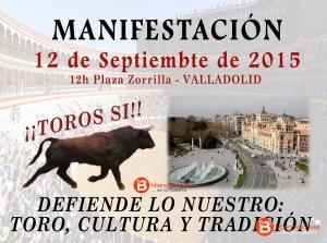 manifestación toros valladolid TV Bte