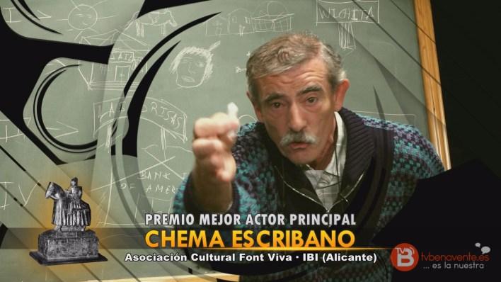 PREMIO MEJOR ACTOR PRINCIPAL - TEATRO BENAVENTE 2015