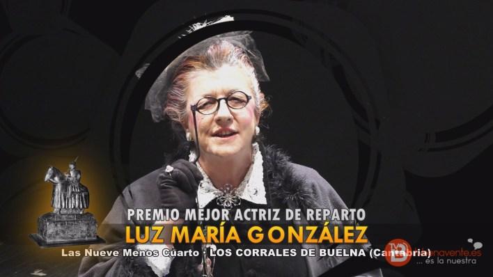 PREMIO MEJOR ACTRIZ DE REPARTO - TEATRO BENAVENTE 2015