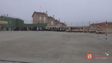 Photo of Simulacro y minuto de silencio en el colegio Virgen de la Vega de Benavente