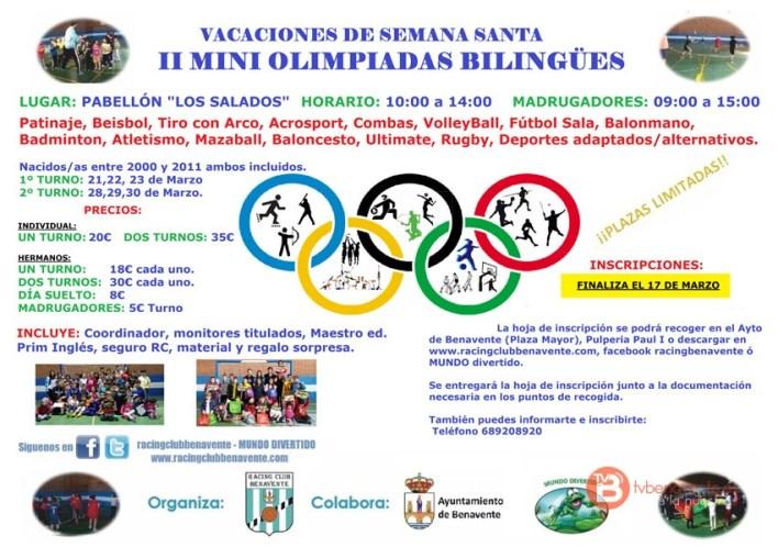 II Mini olimpiadas Bilingües Racing Benavente
