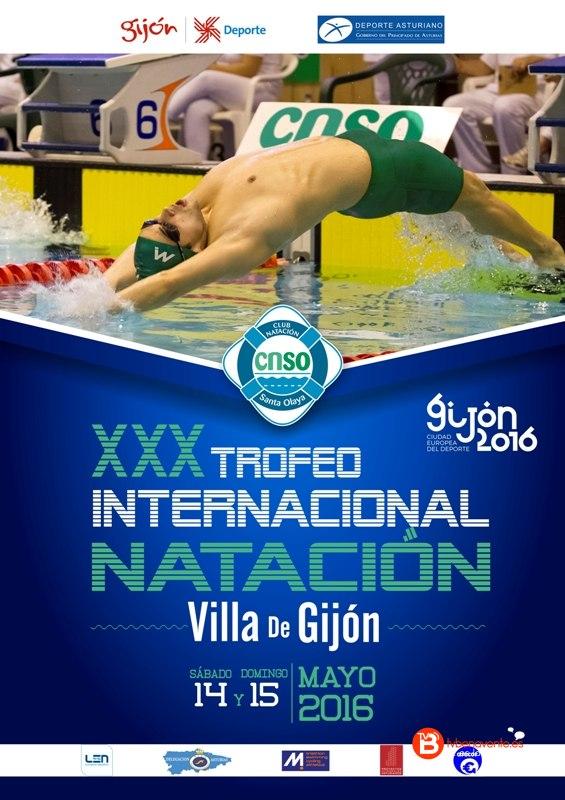 Cartel Internacional Villa de Gijon 2016 - Natacion