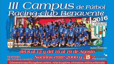 Photo of Abierto el plazo de inscripción para el III Campus de Fútbol del Racing Benavente