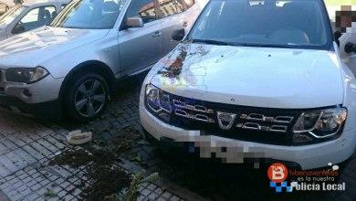 Photo of Una maceta golpea la delantera de un coche debido al viento