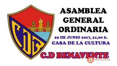 Photo of El 29 de Junio celebrará el C.D Benavente su Asamblea General Ordinaria