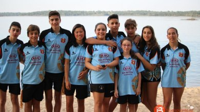 Photo of Carolina, Javier e Iria campeones de Castilla y León en aguas abiertas