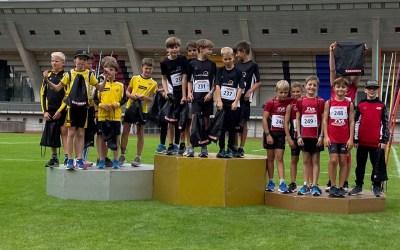 Staffel-Gold, viele Diplomplätze und fünf neue Vereinsrekorde am Grossen Meeting für die Kleinen in Bern