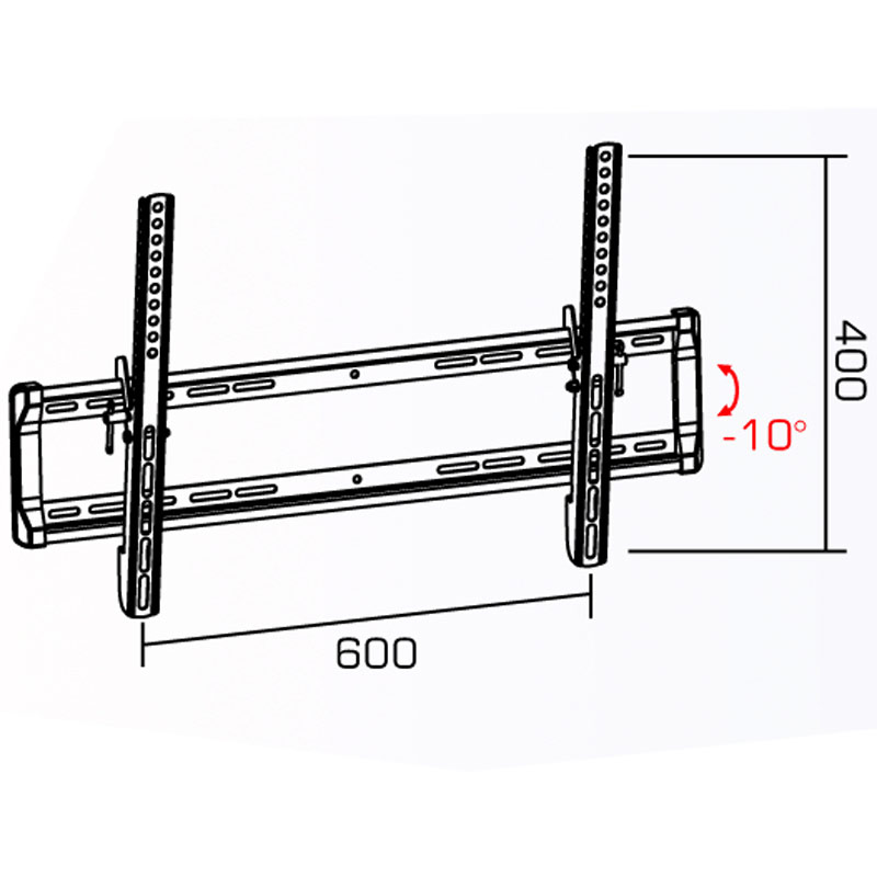 """Universal Flat Screen TV Wall Mount Tilted for 34""""-70"""