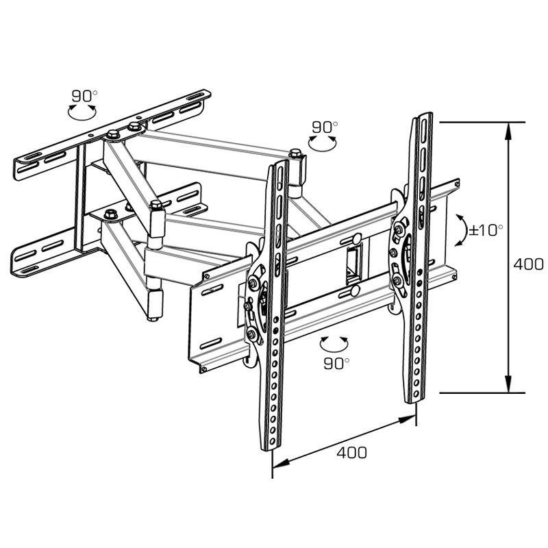 Full-Motion Articulating Arms with Tilting Swivel TV Wall