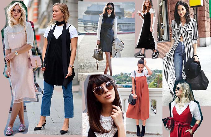 Sobreposição com vestidos por Ju Sayum