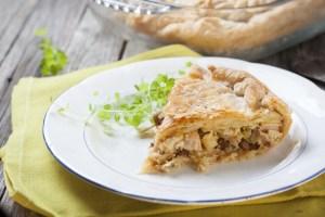 Receita de família: Torta de alho-poró com frango