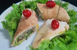 Wrap vegetariano por Beth Barros
