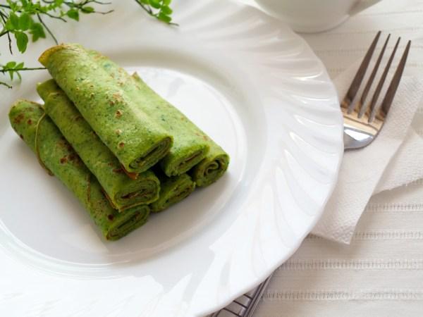Tv Catia Fonseca Café da manhã com saúde: Saborosa Panqueca de Couve-flor panqueca verde