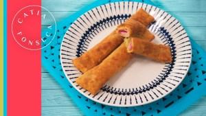 Dá água na boca: Prepare o salgadinho empanado com massa de pastel da Catia!