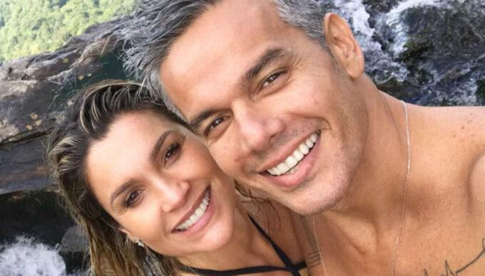 """Otaviano Costa faz vídeo enlouquecedor de Flávia Alessandra em momento íntimo: """"O que é isso?"""""""
