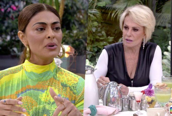Juliana Paes, em A Dona do Pedaço, anuncia para Ana Maria Braga que vai deixar o Brasil e relato causa revolta