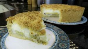 Torta de banana com crocante da Catia