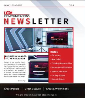 TVC newsletter vol 1