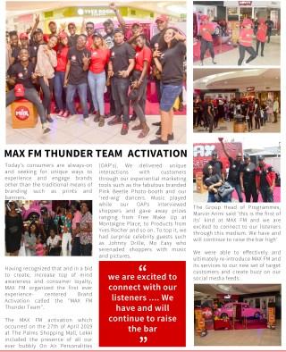 Max Fm Thunder Team Activation