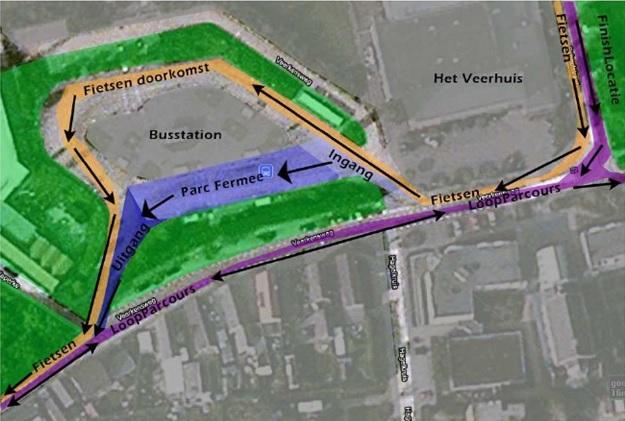 parc ferme fiets-loop