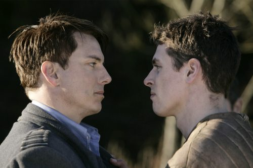 Torchwood - John Barrowman as Captain Jack Harkness and Lachlan Nieboer as Gray