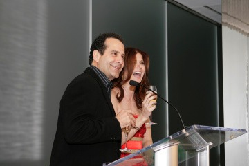 USA Upfronts - Tony Shaloub and Debra Messing