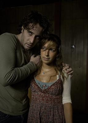 """Mick St. John (Alex O'Loughlin) and guest star Vanessa Lengies in Moonlight's episode """"Fever"""""""