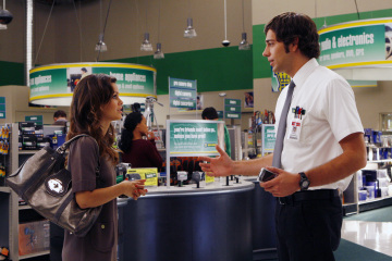 "CHUCK - Zachary Levi as Chuck Bartowski and Rachel Bilson as Lou in ""Chuck vs. The Truth"" Episode 107"